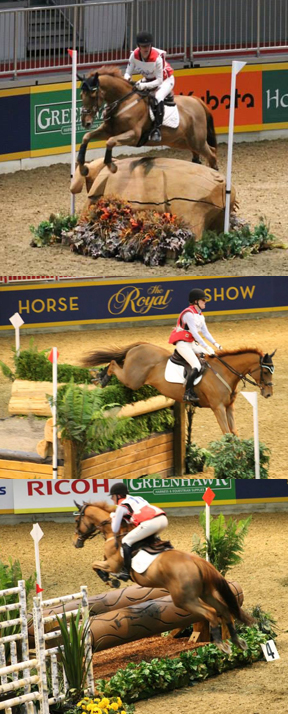 Selena on Iceman at the Royal Horse Show.