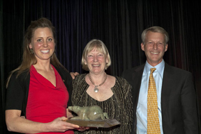 2012 Olympian Rebecca Howard, Equestrian of the Year, Peggy Hambly, past Chair, Canadian Eventing Committee and member of the Board of Directors and Graeme Thom, Chef d' Equipe - Canadian Eventing Team, Chair Canadian Eventing High Performance Committee. Photo by Shereen Jerrett