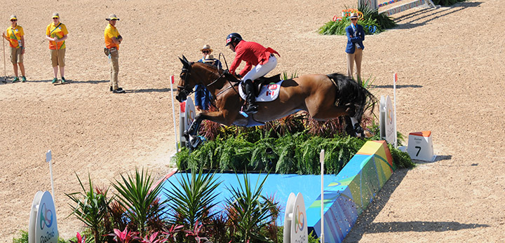 Eric Lamaze and Fine Lady 5 - clear round!